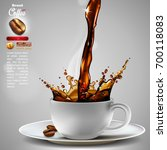 design advertising coffee  and... | Shutterstock .eps vector #700118083