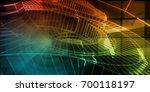 wireframe mesh engineering... | Shutterstock . vector #700118197