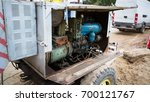 old diesel generator with oil... | Shutterstock . vector #700121767