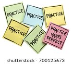 practice makes perfect concept  ... | Shutterstock . vector #700125673