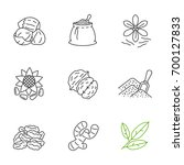 spices linear icons set. thin... | Shutterstock .eps vector #700127833