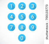 set of 0 9 numbers | Shutterstock .eps vector #700133773