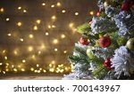 Rustic Holiday Background With...