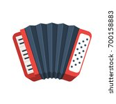 red accordion icon. musical... | Shutterstock .eps vector #700158883