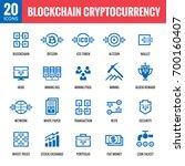 blockchain cryptocurrency   20... | Shutterstock .eps vector #700160407