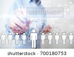 human resource management  hr ... | Shutterstock . vector #700180753