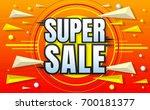 big sale template banner vector ... | Shutterstock .eps vector #700181377