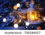 Christmas Lantern With Snowfal...