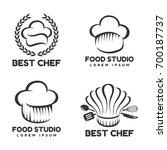 food studio vector logo set.... | Shutterstock .eps vector #700187737