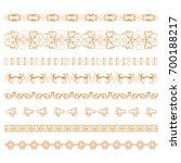 set of ornamental borders of... | Shutterstock .eps vector #700188217