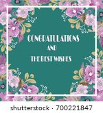 congratulations card with frame ... | Shutterstock . vector #700221847