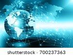 best internet concept of global ... | Shutterstock . vector #700237363