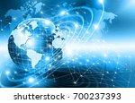 best internet concept of global ... | Shutterstock . vector #700237393