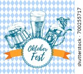 oktoberfest icon. drink menu.... | Shutterstock .eps vector #700255717