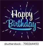 happy birthday cartoon | Shutterstock .eps vector #700264453