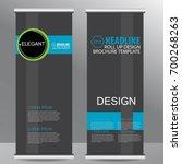 roll up business brochure flyer ...   Shutterstock .eps vector #700268263