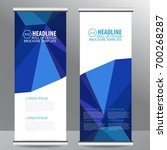 roll up business brochure flyer ... | Shutterstock .eps vector #700268287