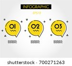 yellow circle outline speech... | Shutterstock .eps vector #700271263