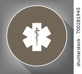 medical symbol of the emergency ... | Shutterstock .eps vector #700281943