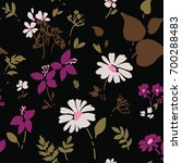 seamless floral pattern with... | Shutterstock .eps vector #700288483
