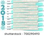 simple calendar in unusual... | Shutterstock .eps vector #700290493