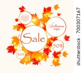 autumn sale and other...   Shutterstock .eps vector #700307167