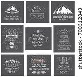 travel postcards. set of...   Shutterstock .eps vector #700312843