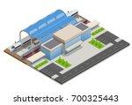 vector isometric infographic... | Shutterstock .eps vector #700325443