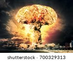 nuclear explosion in city near...
