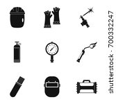 welder instrument icon set.... | Shutterstock .eps vector #700332247