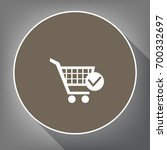 shopping cart with check mark...   Shutterstock .eps vector #700332697