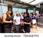 new york   august 21   people... | Shutterstock . vector #700368793