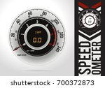speedometer round speed  car... | Shutterstock .eps vector #700372873