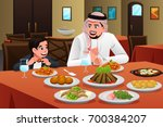 a vector illustration of muslim ... | Shutterstock .eps vector #700384207