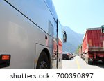 transport on the road | Shutterstock . vector #700390897