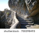 stone staircase  summer day in... | Shutterstock . vector #700398493