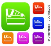 car door set icon in different... | Shutterstock .eps vector #700406203