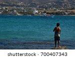 kolimpithres beach  paros...   Shutterstock . vector #700407343