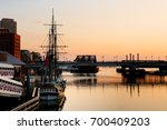 Boston Harbor At Sunrise ...