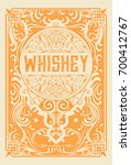 vintage card. elements by... | Shutterstock .eps vector #700412767