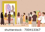 art gallery exhibition busy... | Shutterstock .eps vector #700413367