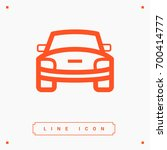 car front line vector icon | Shutterstock .eps vector #700414777
