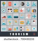 set of premium quality tourism... | Shutterstock .eps vector #700430233