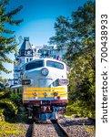 canadian railway in old port of ... | Shutterstock . vector #700438933