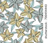 abstract flower pattern | Shutterstock .eps vector #700454443