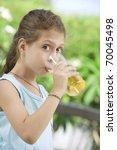 portrait of nice little girl... | Shutterstock . vector #70045498
