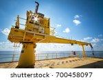 crane  pedestal crane winch ...   Shutterstock . vector #700458097