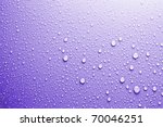 Blue Water Drops Background...