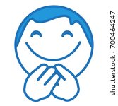 happy smiley closed his eyes... | Shutterstock .eps vector #700464247