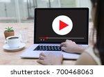 video marketing audio video     ... | Shutterstock . vector #700468063